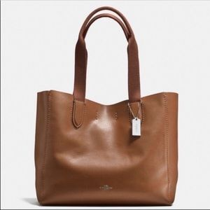 Coach Derby Tote Brown Leather - New